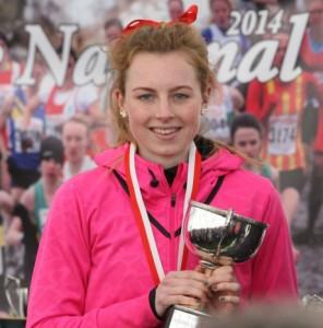 Georgia Taylor-Brown winner of the Junior women national cross country 2014