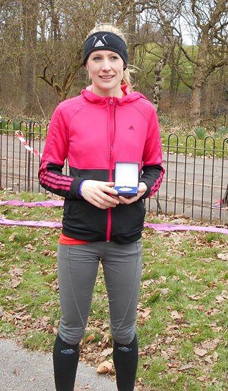 Stockport's Eleanor Vernon fastest leg of the day