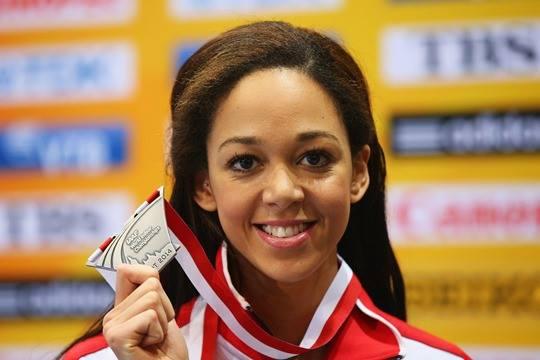 Katarina Johnson-Thompson long jump silver medal winner in world indoor Championships 2014