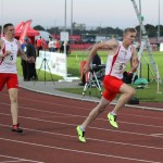 Lee Thompson & Daniel Heald in relay action at Cardiff
