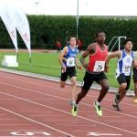 Fisayo Williamson-Taylor of Warrington AC 100 & 200m champion at Wigan