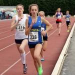 Sophie Burnett the 2014 under 17 1500m champion leads double silver medalist Sophie Tarver