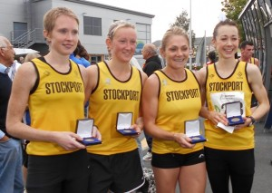 Stockport won the Northern Athletics Women's 4 Stage Road Relay Champions 2014
