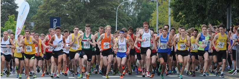 Start of the 2014 Northern Athletics Men's 4 Stage Road Relay Championship