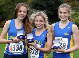 Sophie Burnett, Amber Leigh & Kate Waugh from Birtley 2014 Under 17 Champions