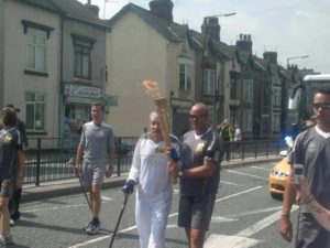 Ian with Olympic torch